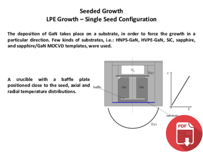 LPE Growth – Single Seed Configuration