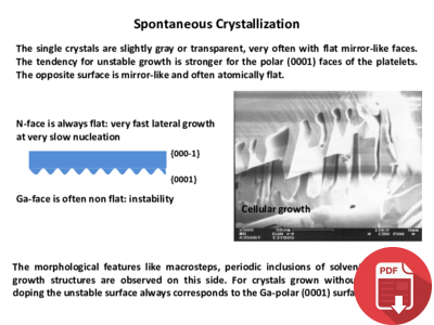 Spontaneous Crystallization